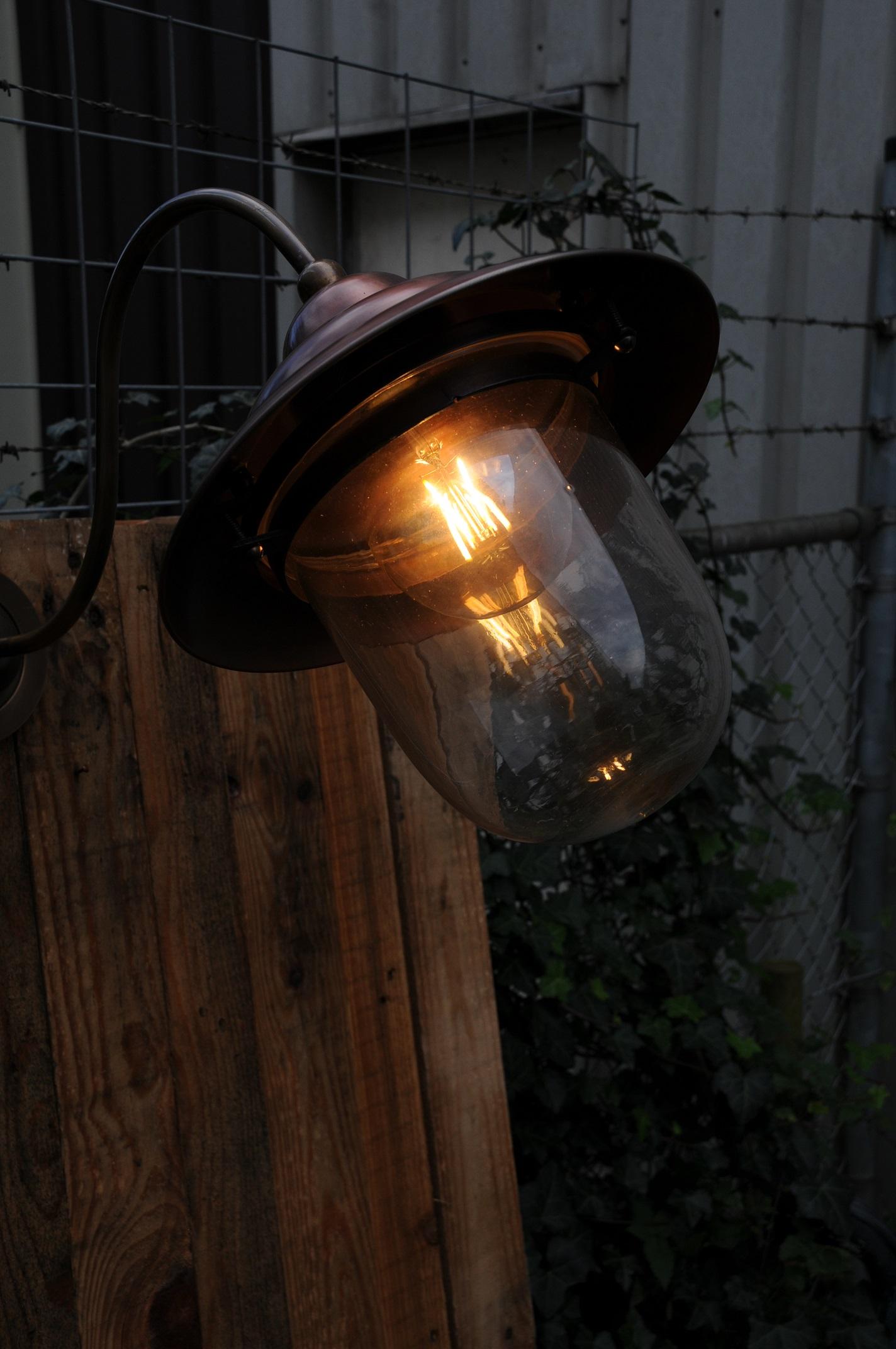 Verrassend Retro wandlamp, van koper en messing, mooie zware buitenlamp CK-13