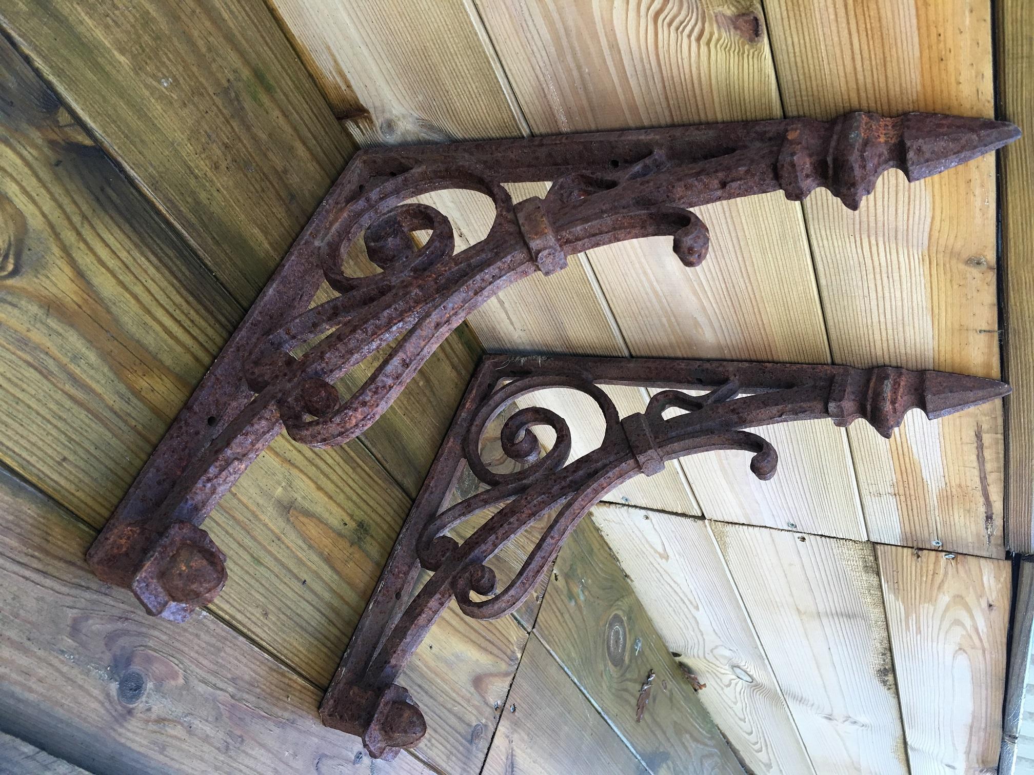 Hoek Steun Zwaar Gietijzer Ondersteuning Voor Planken Rust Bruin Countryclassicdesigneu