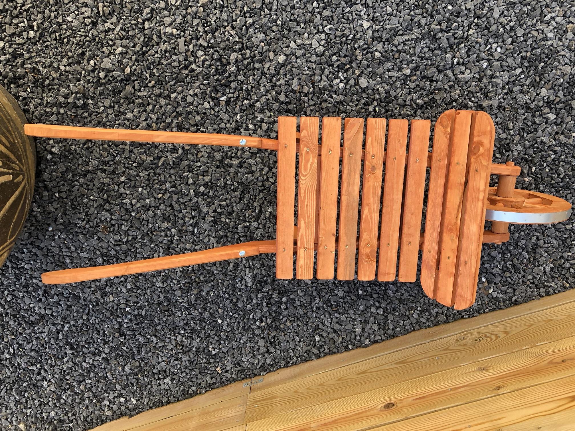 Xxl kruiwagen houten kruiwagen plantkar hout tuin massief