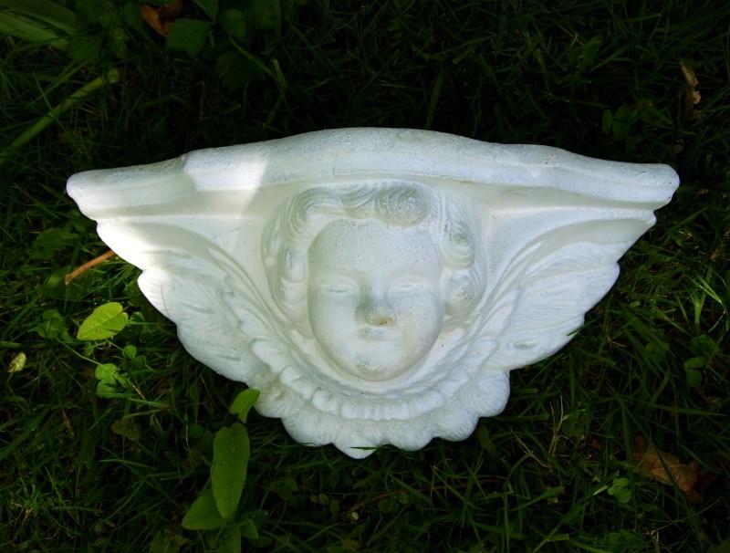 Tuindecoratie tuin nostalgie figuur engel planter bloempot