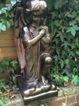 Bronzen Engelen Beelden.1 Engel Weerbestendig Knielend Vol Steen Brons Countryclassicdesign Eu