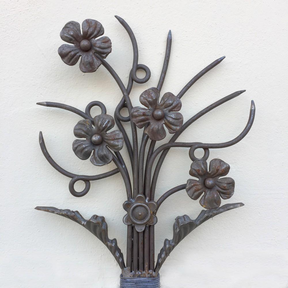 Decoratie sier ornament smeedijzeren bloem sierelement for Interieur decoratie artikelen